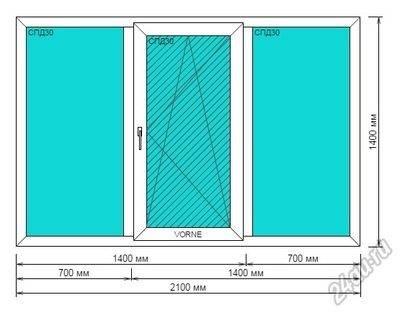 Максимальные размеры пластиковых окон с большими стеклами и технические ограничения