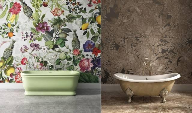 Обои для ванной комнаты: универсальное решение для помещения