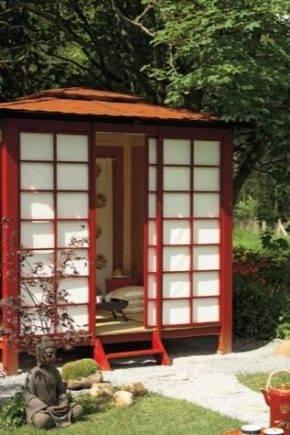 Беседка в японском стиле – частица азии в вашем саду