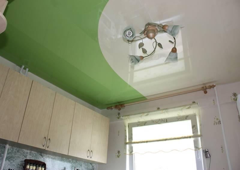 Двухцветные натяжные потолки: особенности, варианты, монтаж