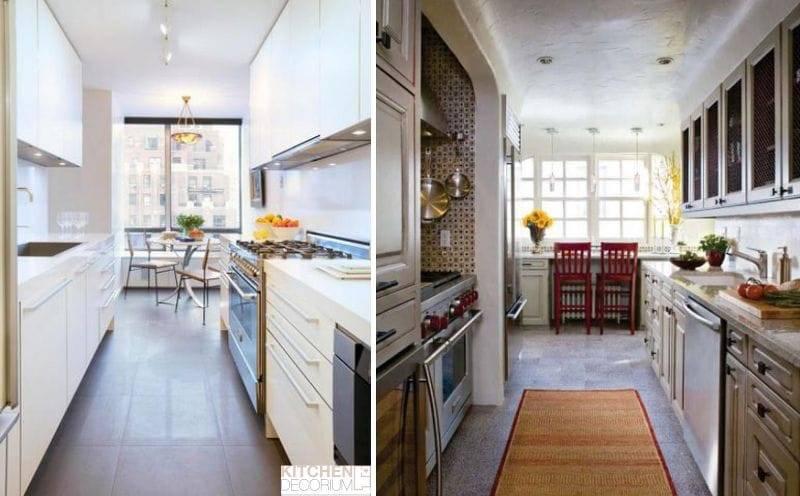 Дизайн узкой кухни: лучшие идеи и полезные хитрости