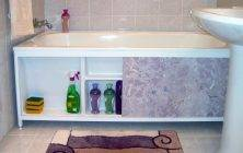 Экран под ванну своими руками из пластиковых панелей раздвижной
