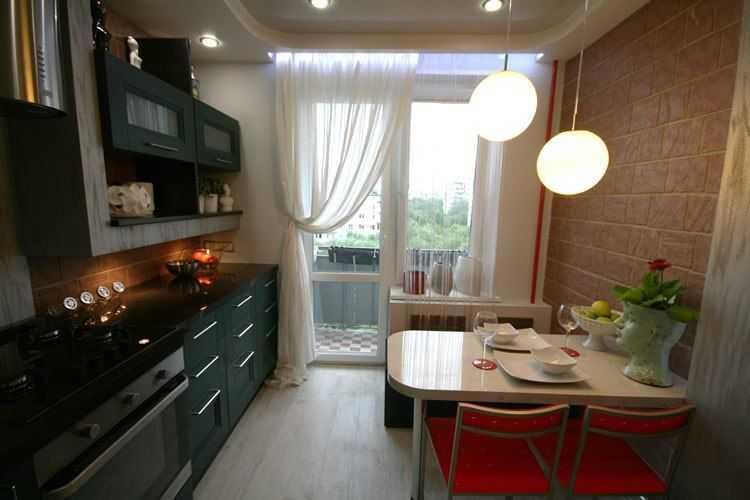 Дизайн кухни 9 кв метров в современном стиле (25 фото)