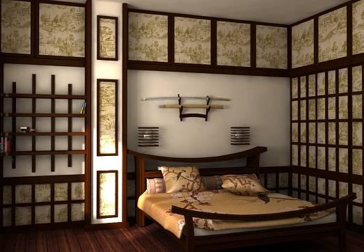 Спальня в японском стиле фото | дом мечты