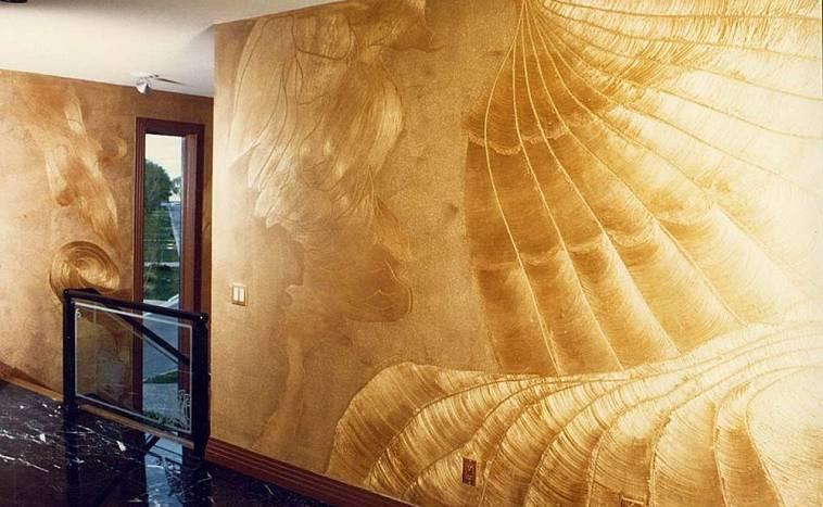 Отделка стен под мрамор венецианской штукатуркой