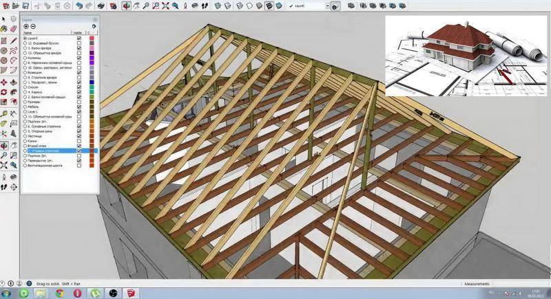 Как самостоятельно построить двухскатную крышу – большая статья по устройству