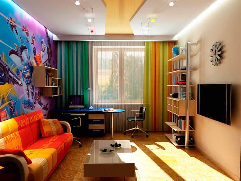 Дизайн потолка в детской комнате: варианты оформления потолка на фото