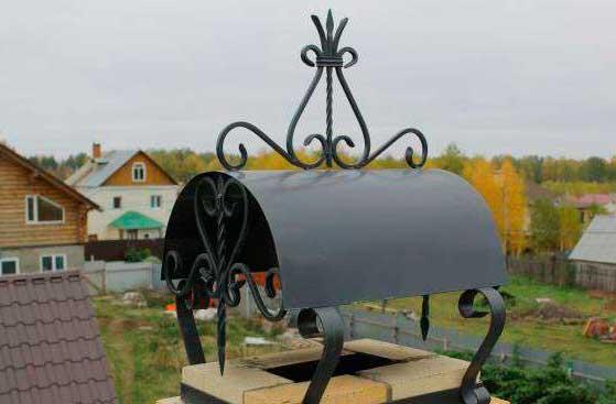 Колпак на трубу дымохода: 6 самых удачных самодельных вариантов