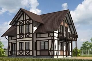 Реставрация фасадов частных домов - 120 фото примеров