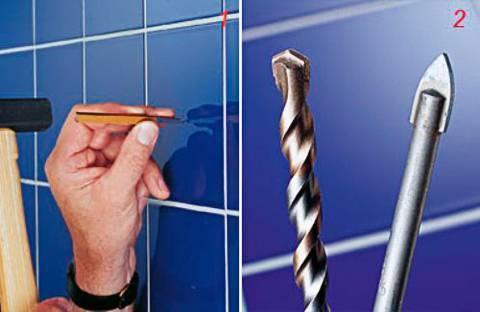 Как сверлить кафельную плитку на стене— советы и правила