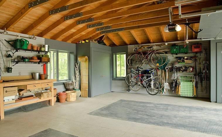 Внутренняя отделка гаража, варианты, фото, дизайны | гаражтек