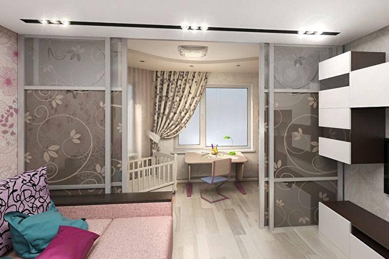 Как обустроить спальню и детскую в одной комнате: варианты зонирования, идеи дизайна интерьера