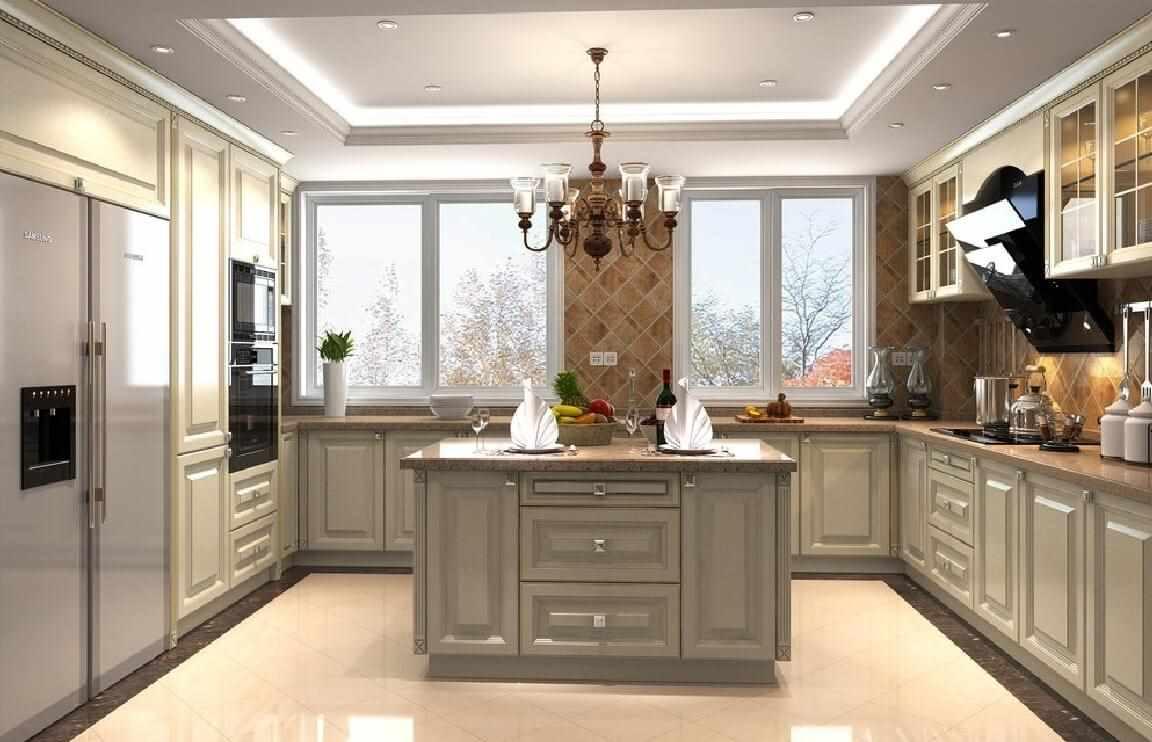 Натяжной потолок на кухне: современная отделка, преимущества и недостатки, фото удачных примеров