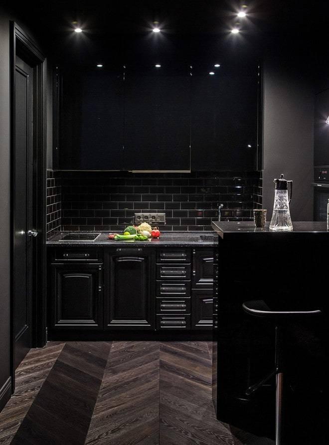Дизайн в темных тонах: 235+(фото) шикарных & ярких интерьеров
