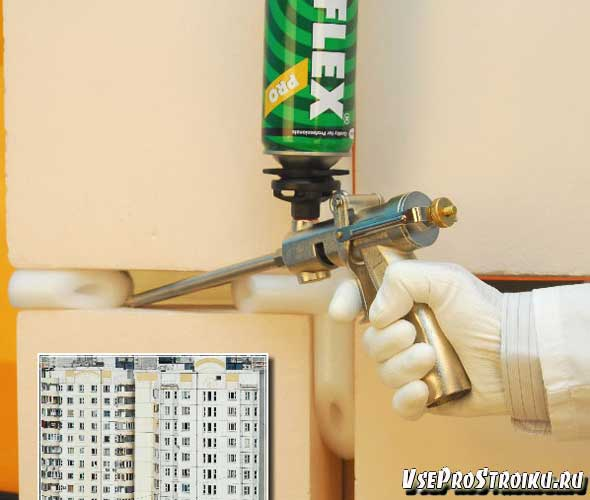 Как правильно пользоваться монтажной пеной с пистолетом и без: инструкции с советами, фото и видео
