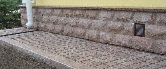 Технология устройства отмостки из тротуарной плитки - стройка