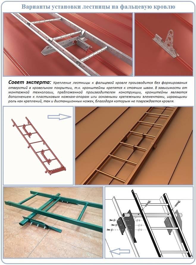 Лестница для крыши своими руками: чертежи и пошаговая инструкция