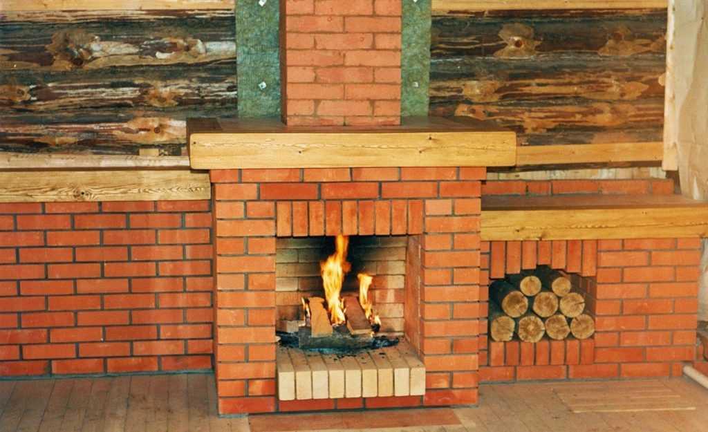 Камины для дома дровяные из кирпича своими руками: проекты, фото, пошаговая инструкция как правильно сделать