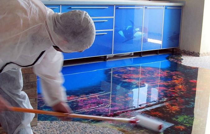 Наливные эпоксидные полы своими руками – описание, стоимость и технология устройства