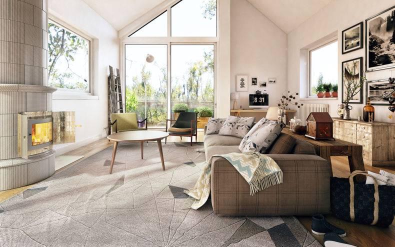 Белая гостиная: 100 фото модных идей - дизайн интерьера