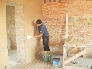 Раствор для штукатурки стен, пропорции и расход
