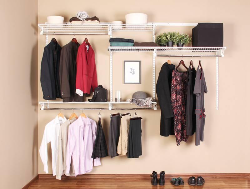 Системы хранения вещей для гардеробной: фото в интерьере