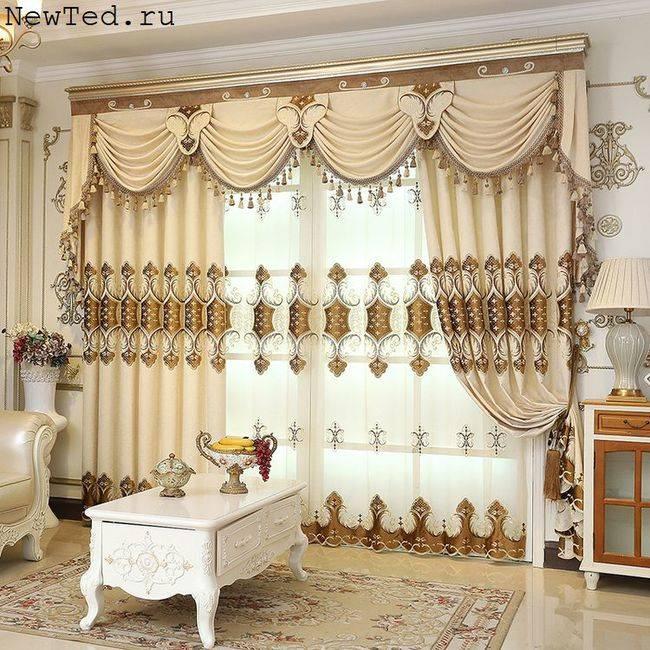 Шторы-портьеры: 113 фото лучших идей дизайна штор в интерьере и особенности сочетания цвета