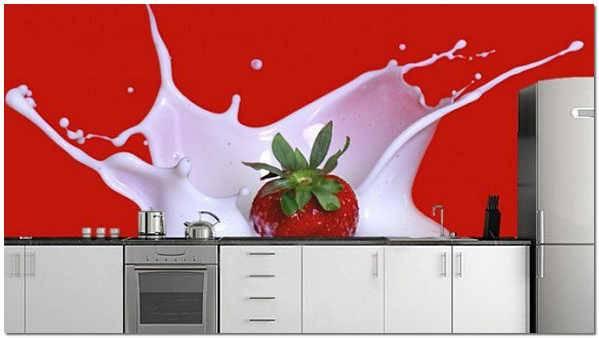3d фотообои на кухню: интересные идеи