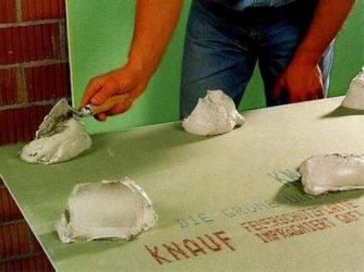 Как приклеить гипсокартон к стене – эффективный метод