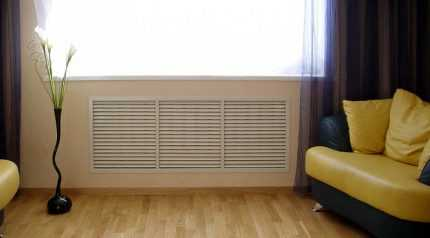 Экраны на радиаторы, материалы для них, отзывы потребителей