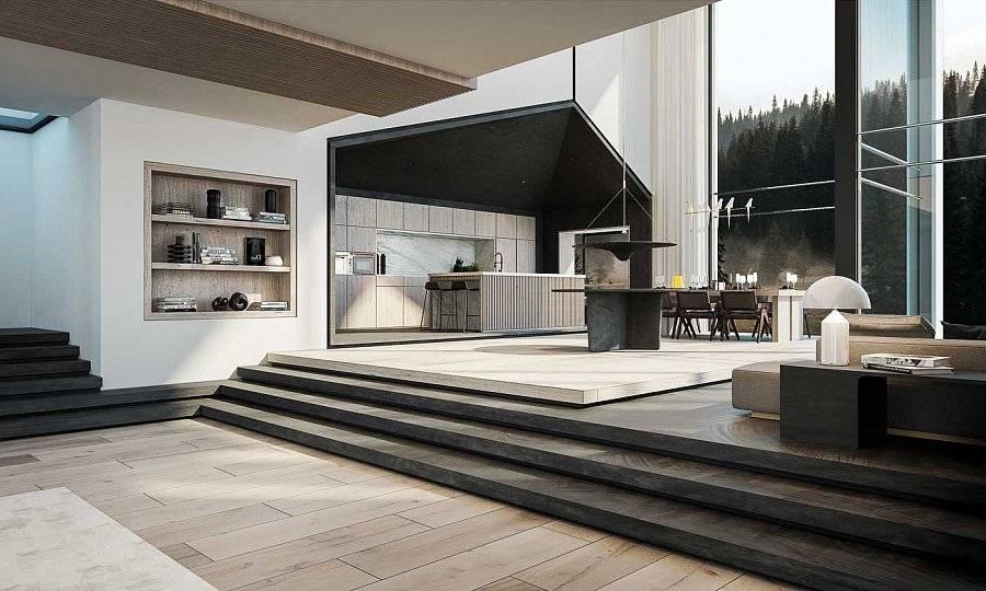 Кухни в стиле минимализм: дизайн, правила планировки, выбор цвета
