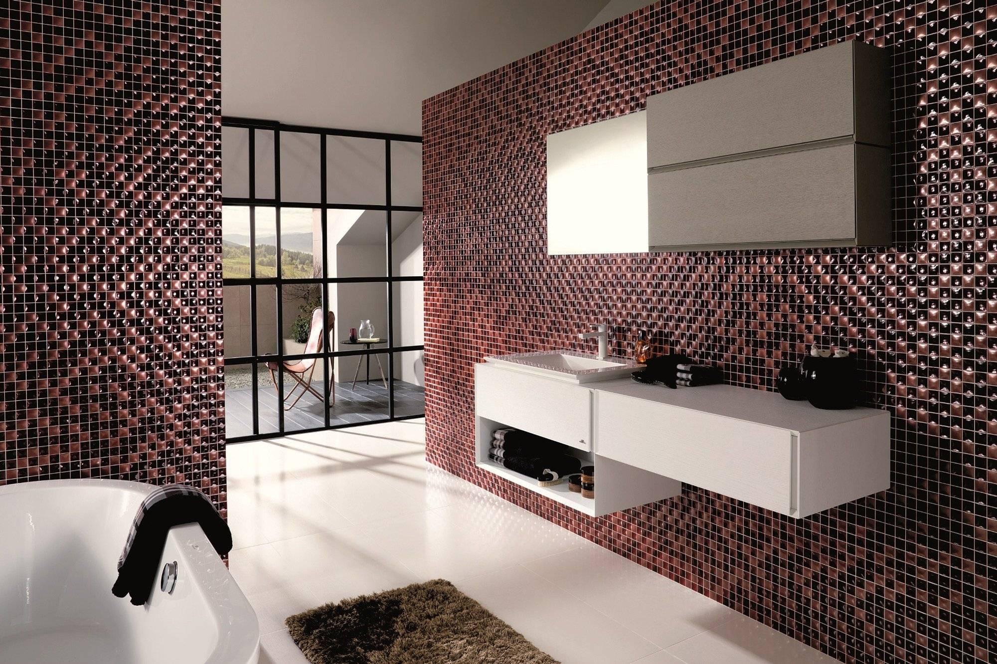 Плитка-мозаика для кухни на фартук: укладка, виды, преимущества и недостатки