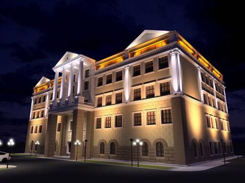 Архитектурная подсветка фасадной части дома: хитрости светового декора