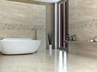 10 вариантов дизайна ванной под мрамор: как посчитать нужное количество плитки