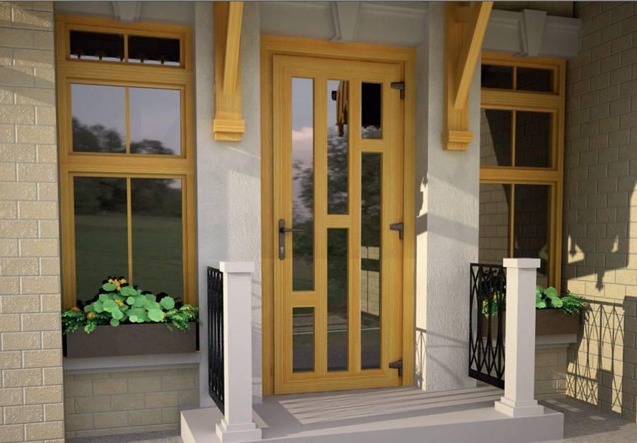 Пластиковые входные двери со стеклом, особенности применения для частного дома и квартиры