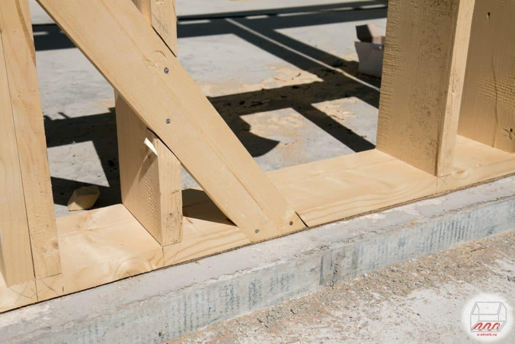 Нужны ли укосины в каркасном доме если обшить осб - строим сами