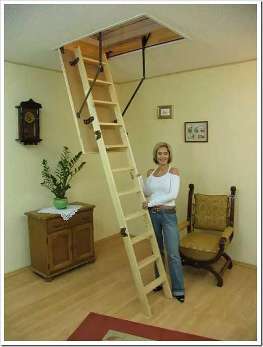 Лестница на чердак: какую лучше выбрать и как самостоятельно установить?