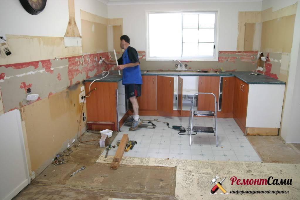 Ремонт кухни своими руками — этапы восстановления и рекомендации по простому и дешевому ремонту кухни (90 фото)