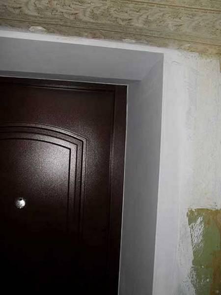 Отделка откосов входной двери своими руками - пошаговая инструкция
