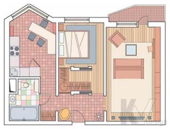 Идеи создание дизайна 2-х комнатной квартиры (серия п 44т): 75 фото