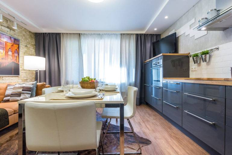 Зонирование кухни (49 фото): как разделить кухонное пространство на две зоны подиумом? как создать кухню с зоной отдыха? разделение пространства барной стойкой