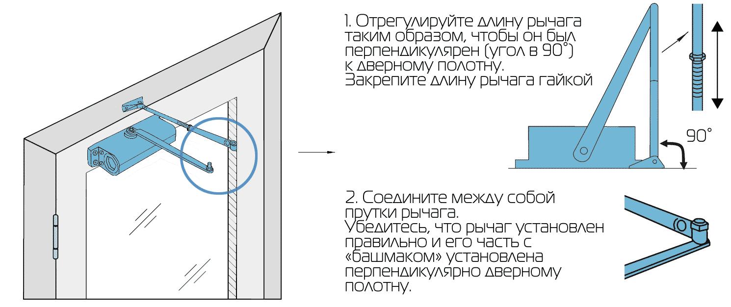 Установка доводчика двери: монтаж и регулировка своими руками | двери дома