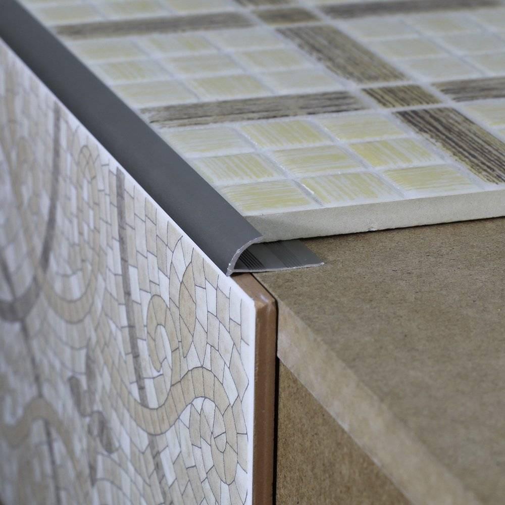 Уголок для плитки кафельной в ванной алюминиевый, пвх или керамический, наружный и внутренний декоративный