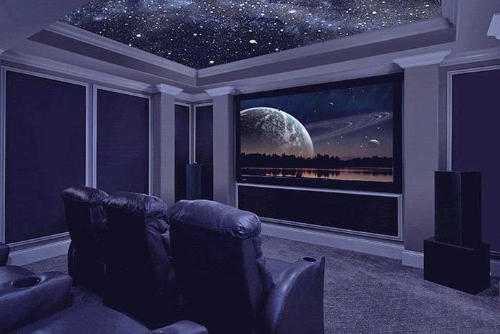 """Потолок """"звездное небо"""" с эффектом мерцания звезд - как его сделать и как он выглядит"""