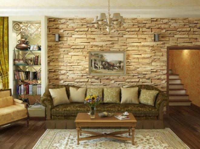 Укладка декоративного камня на стены в квартире