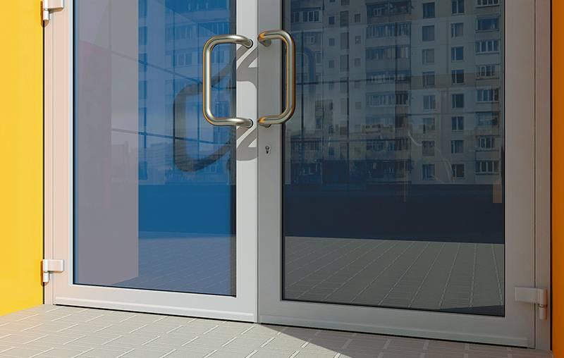 Алюминиевые двери: холодные и теплые профили, варианты изготовления и остекления, особенности системы
