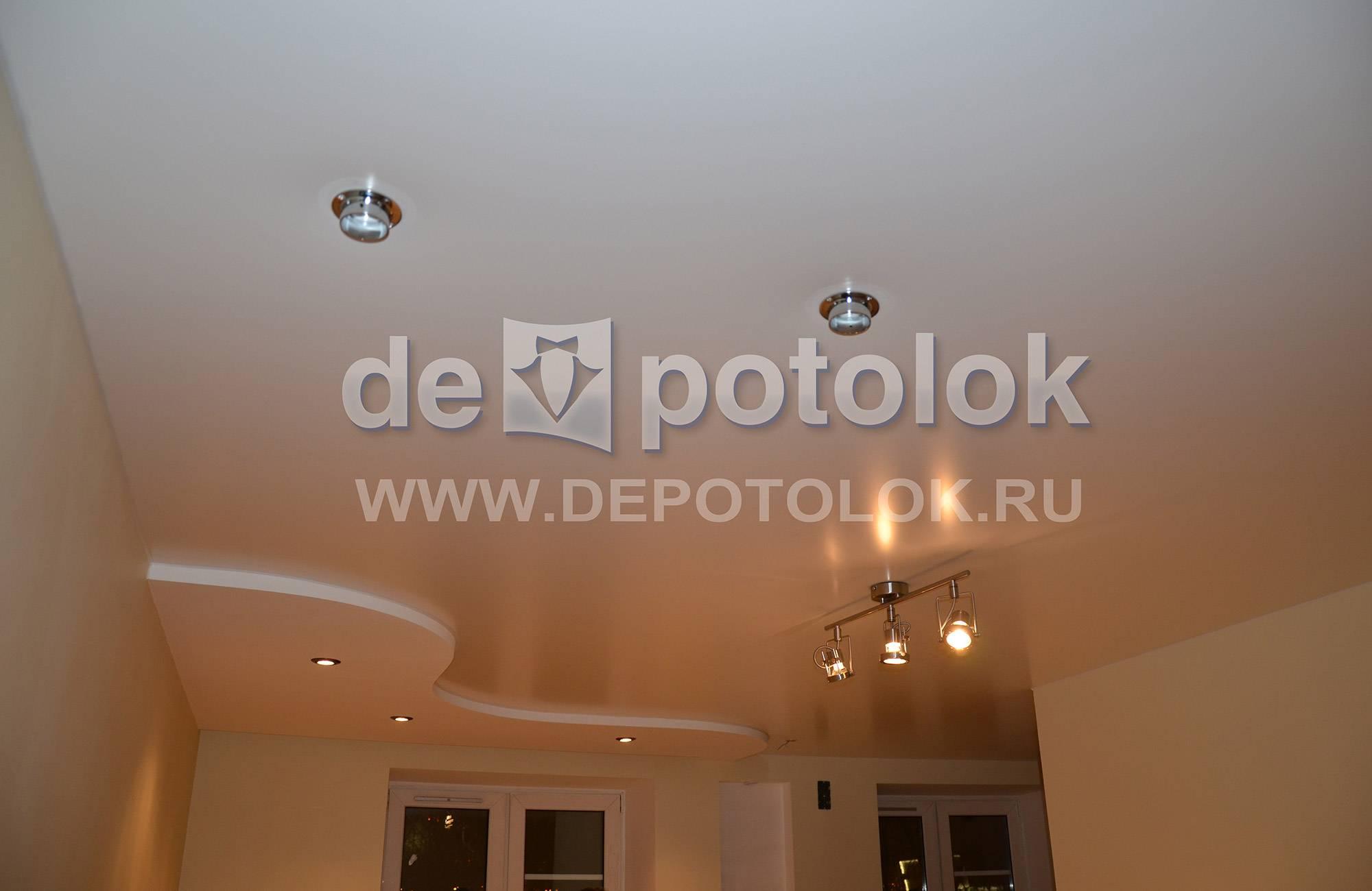 Натяжные тканевые потолки фото - варианты в интерьере, все расцветки и особенности монтажа