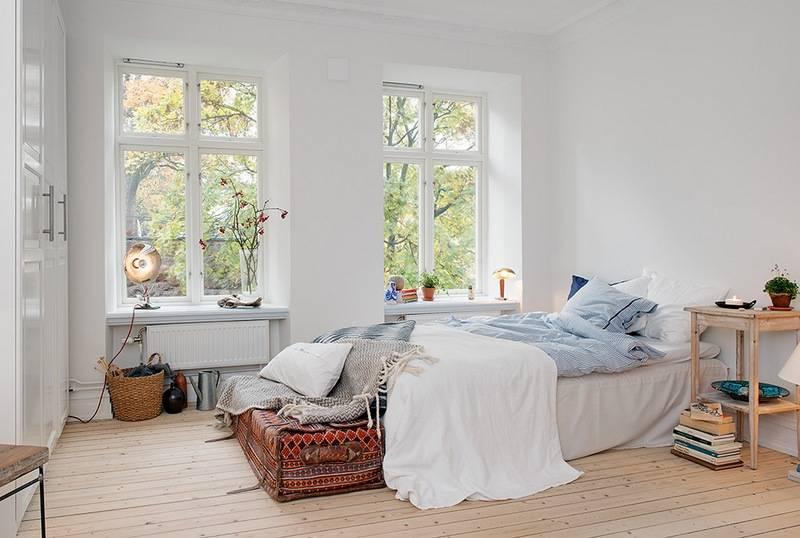 Спальня в скандинавском стиле (80 фото) - дизайн интерьера, идеи ремонта и отделки