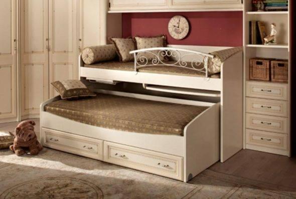 Виды кроватей-трансформеров для малогабаритной квартиры, их функционал