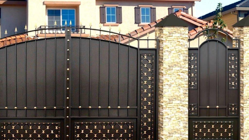 Как выбрать красивые ворота и калитки для частного дома: фото и обзор материалов